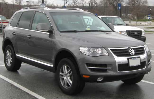 Volkswagen Touareg is listed (or ranked) 3 on the list The Best Fuel Efficient SUVs: Large And Mid Size SUVs