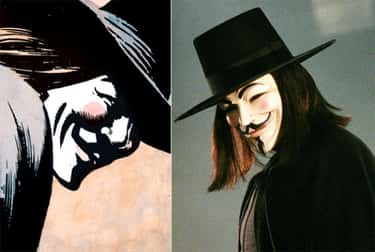 V ('V for Vendetta') is listed (or ranked) 1 on the list The Best DC Costume Adaptations Ever