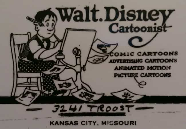 Walt Disney is listed (or ranked) 3 on the list Celebrity Business Cards You've Never Seen Before