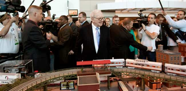 Warren Buffett is listed (or ranked) 4 on the list 30 Famous Model Train Hobbyists
