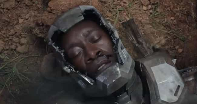 War Machine is listed (or ranked) 2 on the list Characters Most Likely to Die in Marvel Phase 3