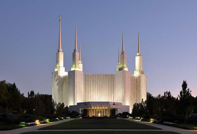 Washington D.C. Temple ... is listed (or ranked) 4 on the list The Most Beautiful Mormon Temples