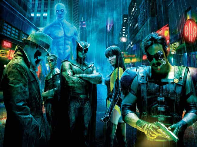 Watchmen is listed (or ranked) 3 on the list The Best Superhero Movie Posters