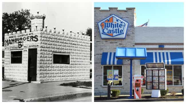 White Castle is listed (or ranked) 3 on the list Here's What Popular Fast Food Chains Looked Like When They Debuted