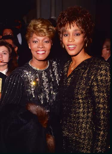 Whitney Houston & Dionne Warwi is listed (or ranked) 2 on the list 19 Sets of Famous Cousins