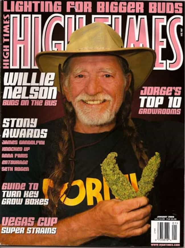 Willie Nelson is listed (or ranked) 4 on the list The Best High Times Covers