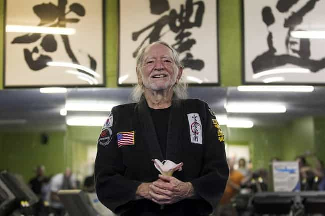 Willie Nelson is listed (or ranked) 2 on the list 28 Celebrities Who Are Black Belts