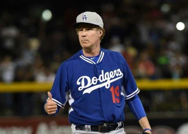 Will Ferrell is listed (or ranked) 4 on the list Celebrity Dodger Fans