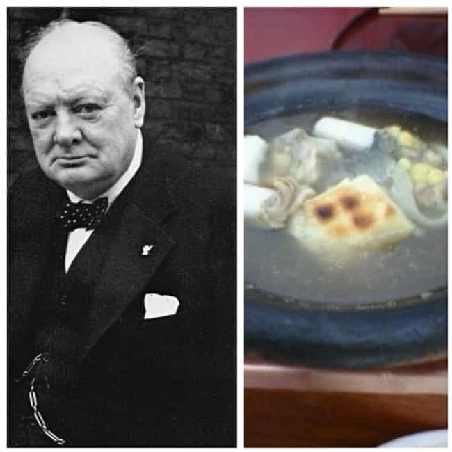 Winston Churchill is listed (or ranked) 4 on the list The Favorite Foods Of 15 Historical Figures