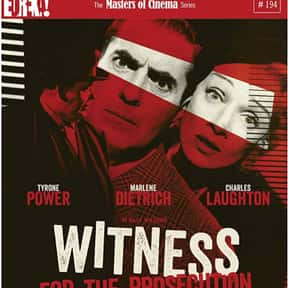 Witness for the Prosecution is listed (or ranked) 10 on the list The Best Courtroom Drama Movies
