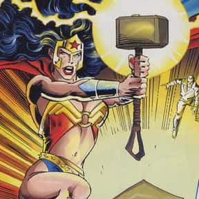 Wonder Woman is listed (or ranked) 11 on the list Characters Who Are Most Worthy Of Lifting Mjolnir