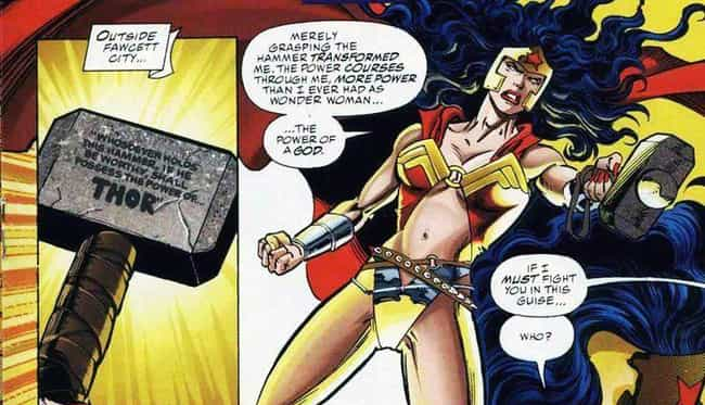 Wonder Woman is listed (or ranked) 6 on the list Everyone Who Has Wielded Mjolnir In Marvel Comics