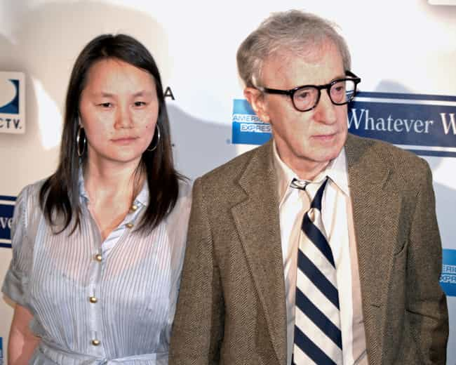 Woody Allen is listed (or ranked) 4 on the list 7 Famous White Men Who Married Asian Women