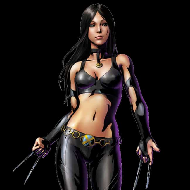 X-23 is listed (or ranked) 2 on the list Comic Book Characters That Debuted Outside Comics