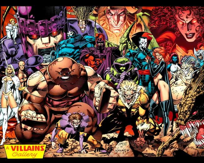 X-Men is listed (or ranked) 3 on the list The Superheroes With the Best Rogues Galleries