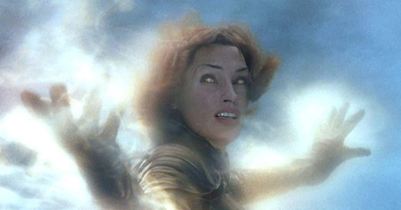 Jean Grey Using Her Telekinesis Outside Of The X-Jet In 'X2: X-Men United'