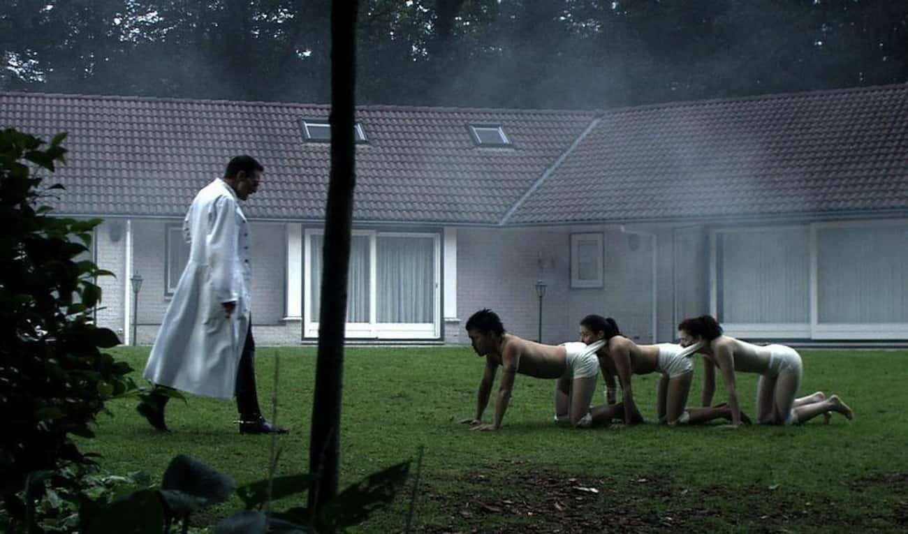 The Human Centipede (First Seq is listed (or ranked) 1 on the list 15 Nasty Body Horror Films, From 'Hard To Watch' To 'Positively Depraved'