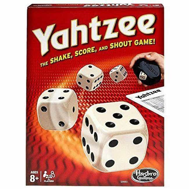 Yahtzee is listed (or ranked) 4 on the list The Best Editions of Yahtzee
