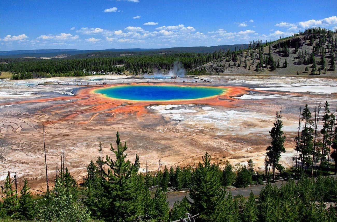 Yellowstone National Park is listed (or ranked) 3 on the list The Most Beautiful Places In America