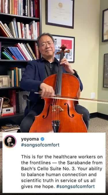 Yo-Yo Ma Starts #SongsOfComfort Dedicated To The Public