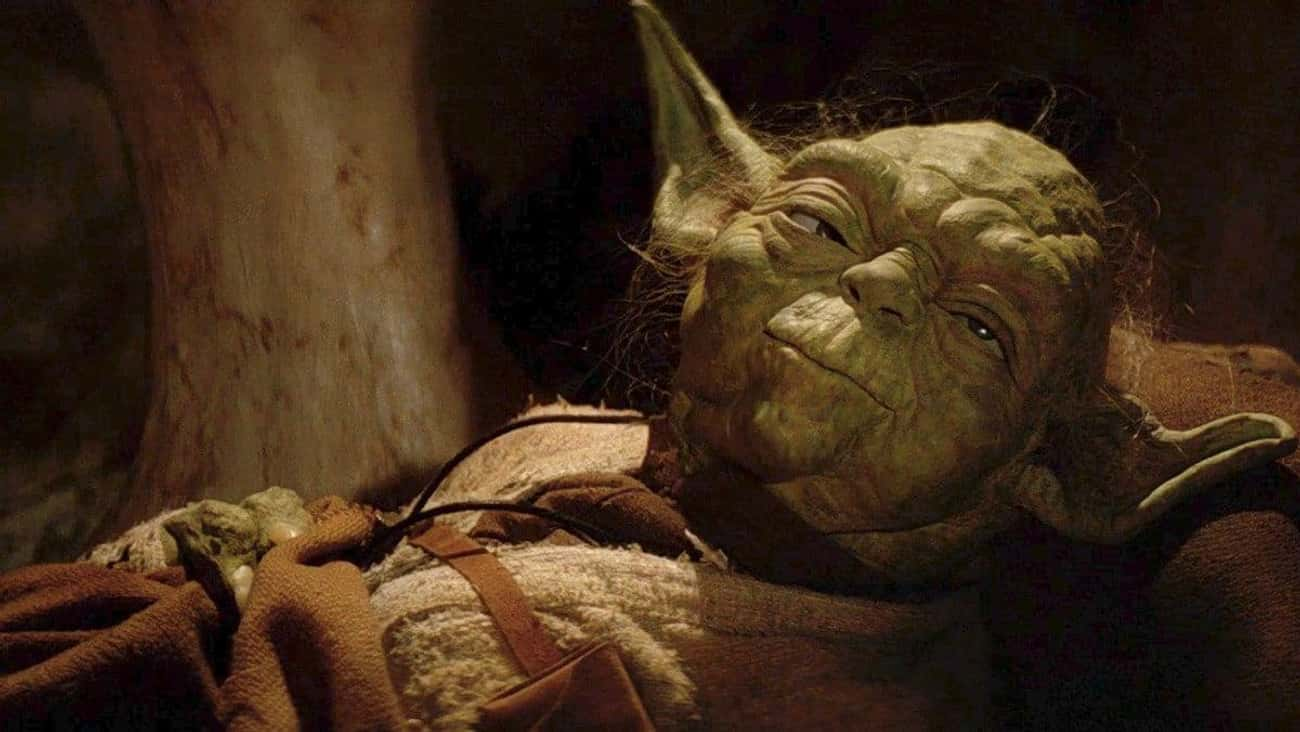 Yoda is listed (or ranked) 2 on the list The 20 Most Unforgettable Last Words Of 'Star Wars' Characters