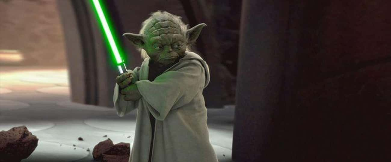 Yoda is listed (or ranked) 1 on the list Which Jedi Or Sith Would Win In An All-Out Battle?