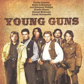 Young Guns is listed (or ranked) 4 on the list The Best '80s Western Movies