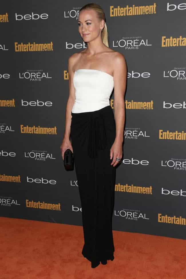 Yvonne Strahovski is listed (or ranked) 1 on the list The Most Beautiful Celebrity in a Black & White Dress
