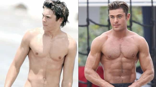 Zac Efron is listed (or ranked) 4 on the list What Ripped Celebrities Looked Like Before They Got Swole AF