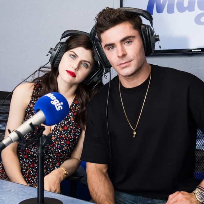 Zac Efron is listed (or ranked) 1 on the list Alexandra Daddario Loves and Hookups