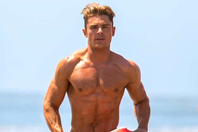 Zac Efron is listed (or ranked) 3 on the list Male Actors Who Are Definitely Taking Off Their Shirt In Movies