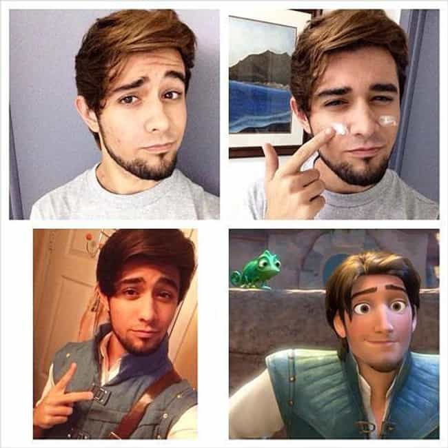 Flynn Rider is listed (or ranked) 4 on the list 60+ Unbelievable #MakeupTransformations