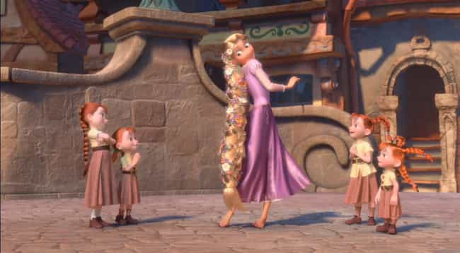 Rapunzel is listed (or ranked) 4 on the list The Prettiest Hair In Modern Animation