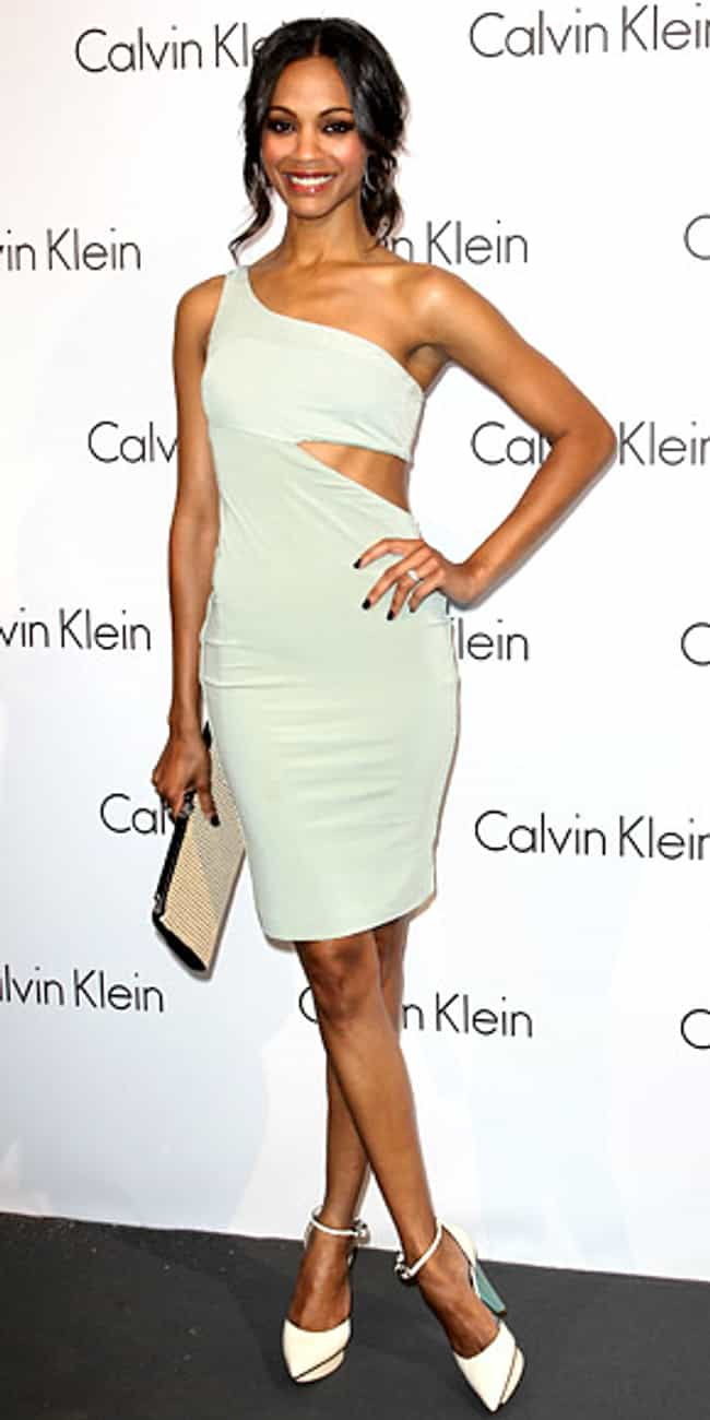Zoe Saldana is listed (or ranked) 4 on the list Celebrities in Calvin Klein Dresses