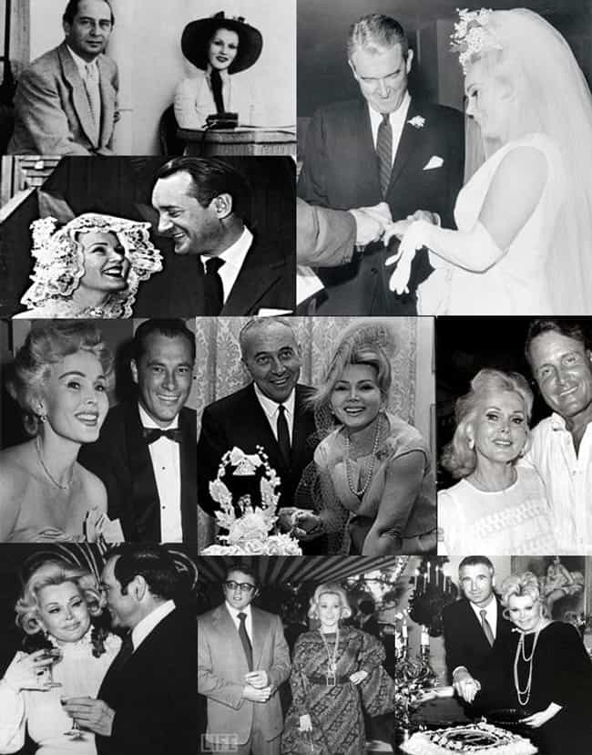 Zsa Zsa Gábor is listed (or ranked) 1 on the list Celebrities Who Have Been Married 4 (or More!) Times