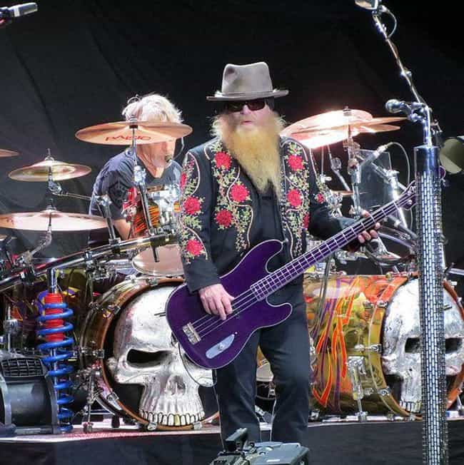 ZZ Top is listed (or ranked) 4 on the list Celebrity Rockets Fans