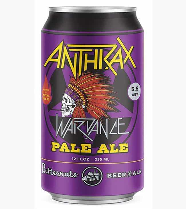 Anthrax is listed (or ranked) 4 on the list Rock Bands With The Coolest Custom Beers