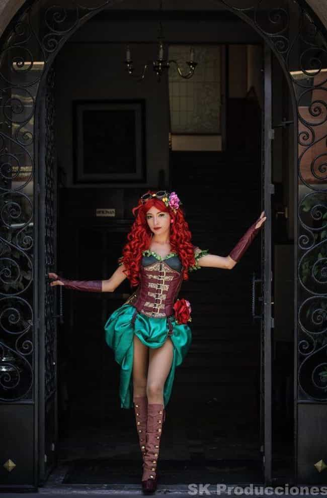 Poison Ivy is listed (or ranked) 2 on the list 25 Epic Steampunk Versions Of Your Favorite Characters