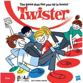 Twister is listed (or ranked) 8 on the list The Best Board Games for Parties