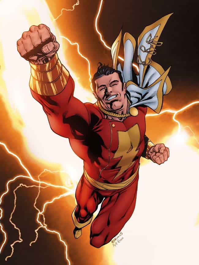 Shazam is listed (or ranked) 3 on the list The 15 Best Superheroes With The Power to Absorb Energy