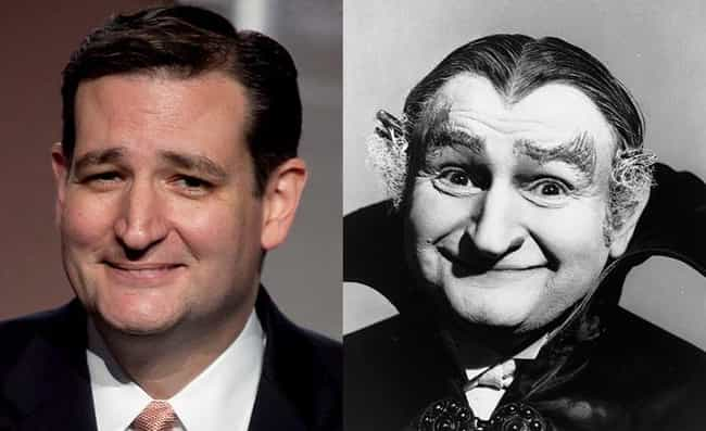 Grandpa Munster is listed (or ranked) 1 on the list Everything That People Have Said Ted Cruz Looks Like, Ranked