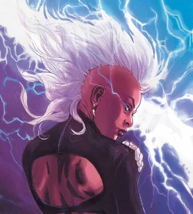 Storm is listed (or ranked) 4 on the list The Best X-Men Characters of All Time