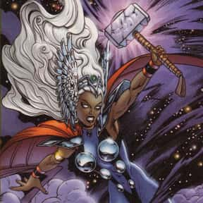Storm is listed (or ranked) 22 on the list Characters Who Are Most Worthy Of Lifting Mjolnir