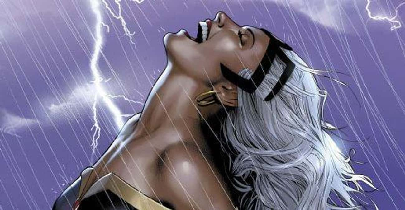 Storm is listed (or ranked) 1 on the list The Best Female Superhero Team Leaders