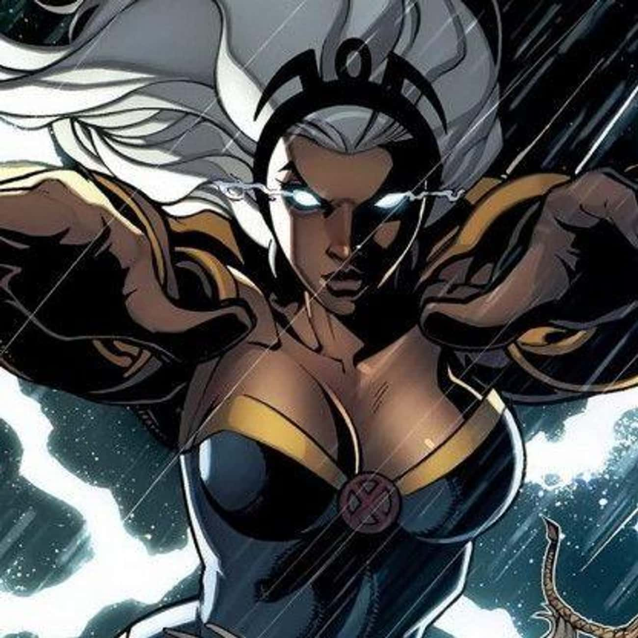 Storm is listed (or ranked) 1 on the list Greatest Black Female Superheroes
