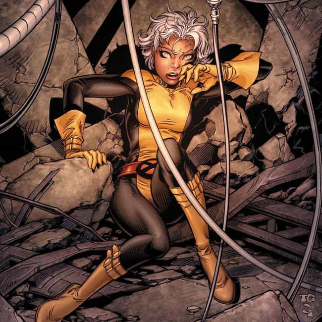 Storm is listed (or ranked) 4 on the list 15 Of Your Favorite Comic Book Characters Who Have Been De-Aged