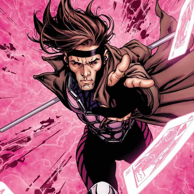 Gambit is listed (or ranked) 3 on the list The Hottest Male Comic Book Characters