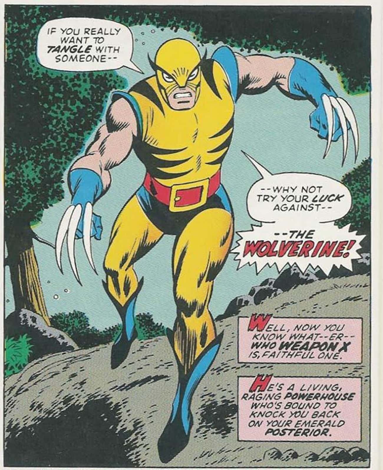 Wolverine Then is listed (or ranked) 3 on the list Your Favorite Marvel Characters: Where Are They Now?