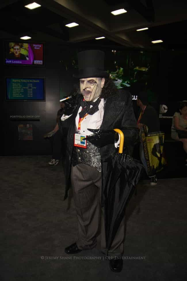 Penguin is listed (or ranked) 1 on the list The Very Best Costumes at Comic-Con 2013, RANKED