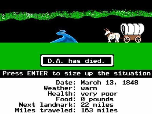 The Oregon Trail is listed (or ranked) 1 on the list Video Games You Can Totally Get Away With Playing At Work